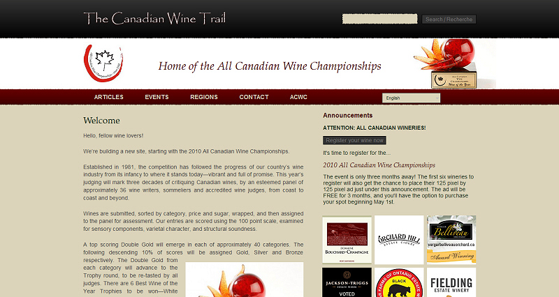 Canadian Wine Trail website